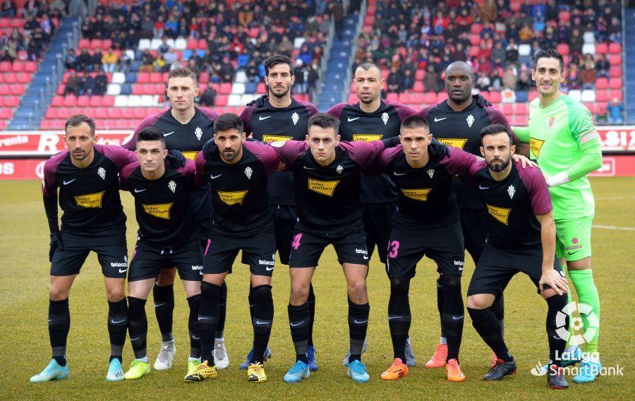 Once del Sporting en Soria
