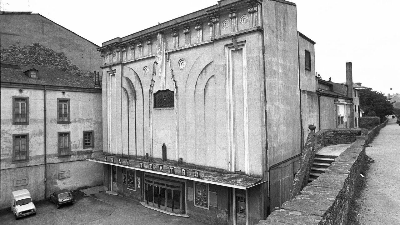 El emblemático edificio de Lugo era de aires racionalistas y se derribó hace un cuarto de siglo