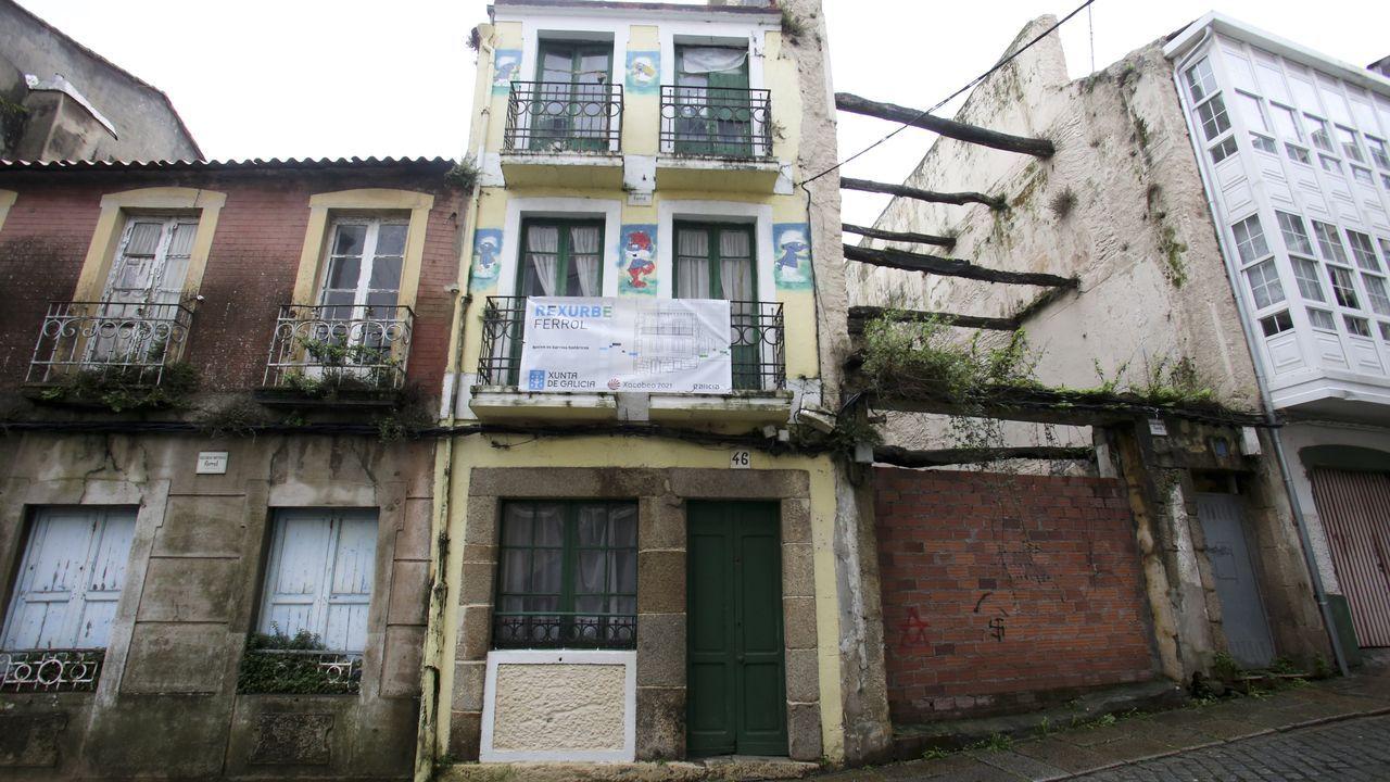 Los mayores edificios del barrio histórico de Vigo sin rehabilitar