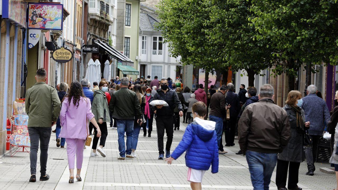 El suceso tuvo lugar en la Cuatro Calles de Ribadeo