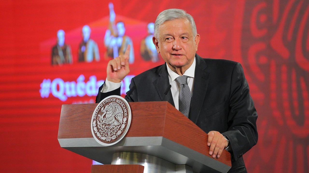 El presidente de México, Andrés López Obrador, en una rueda de prensa celebrada este jueves