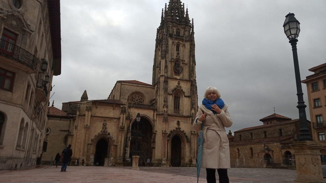 Concha Masa, candidata de IU a la alcaldía de Oviedo