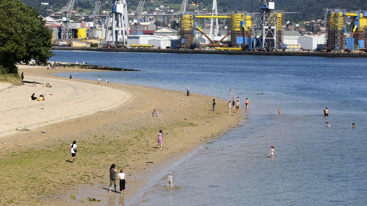 La playa de Caranza (Ferrol) esta tarde