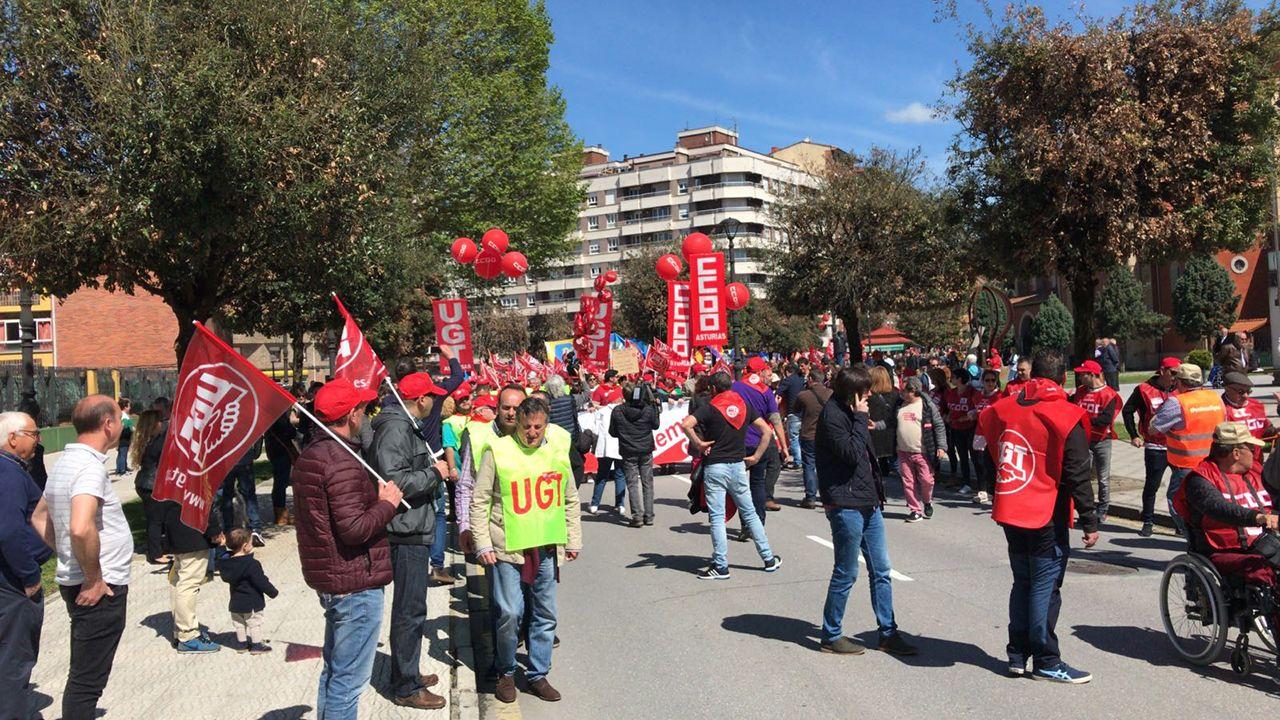 Manifestación del Primero de Mayo de 2018 en Asturias