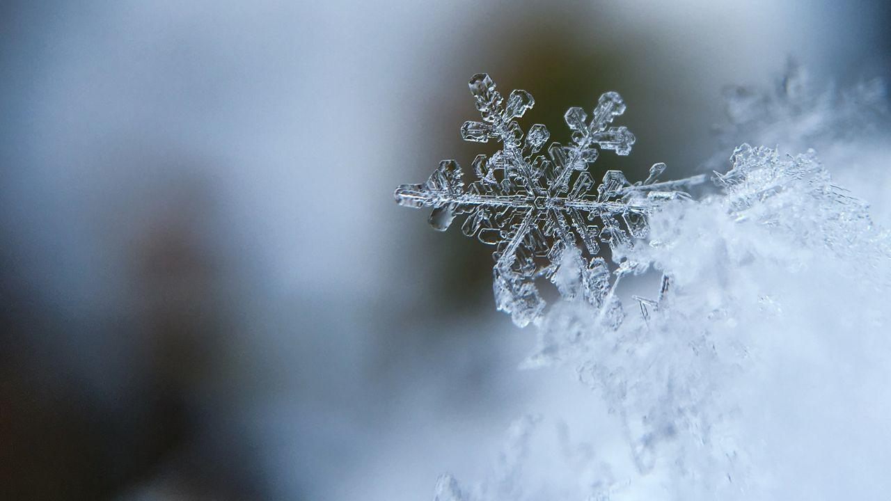 Nieva sobre Bimenes