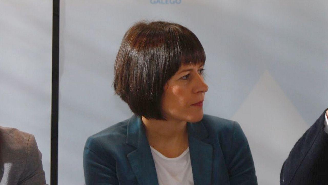 Control de la Guardia Civil en la nacional N-55.Ana Pontón, en un desayuno informativo el 21 de febrero
