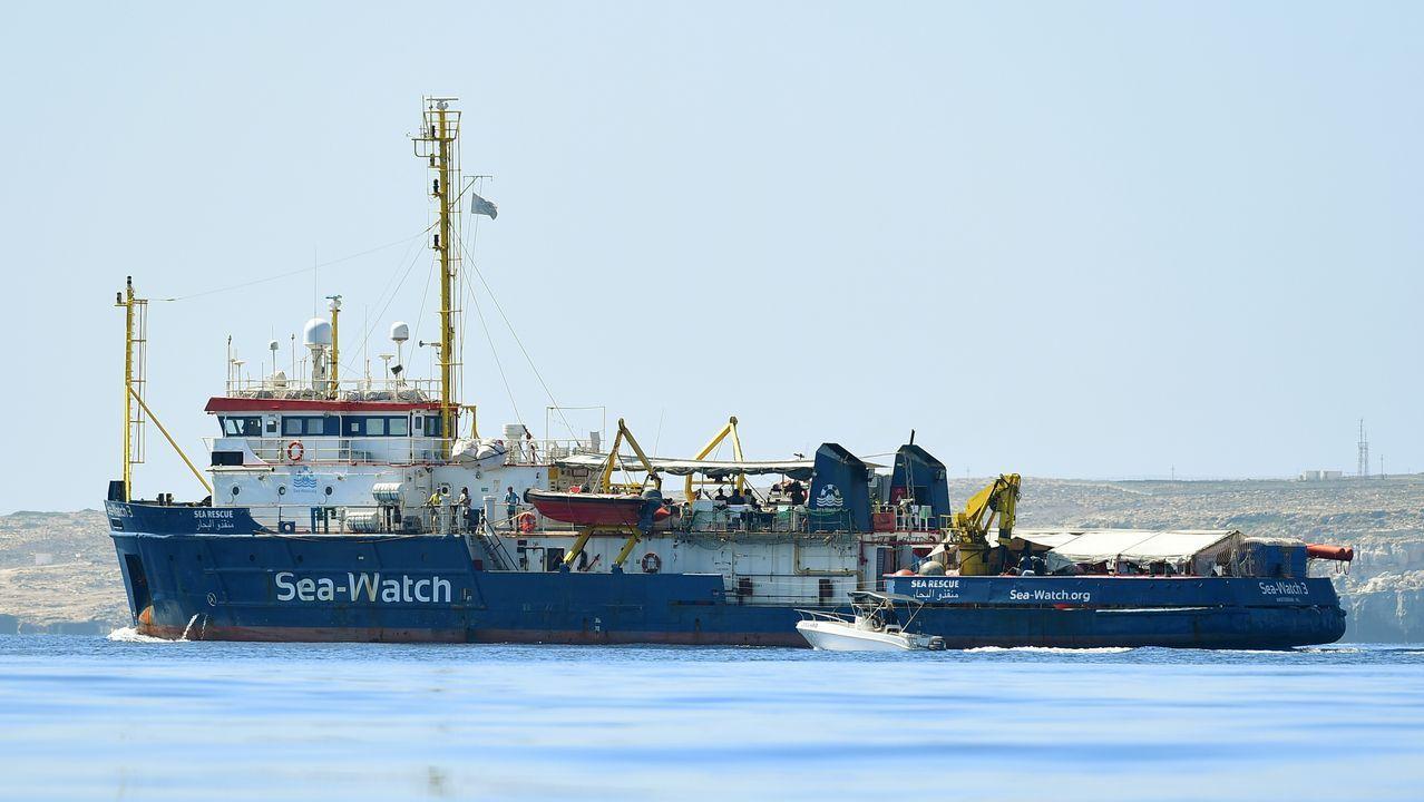 Espectacular demolición del puente Morandi en Génova.El Sea Watch 3, frente a las costas de Lampedusa