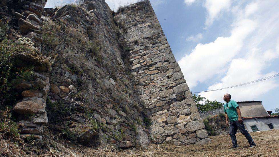 Las secuelas de la tormenta en el sur de Lugo.Zona de la muralla próxima a los depósitos del agua, tras el desbroce del pasado verano
