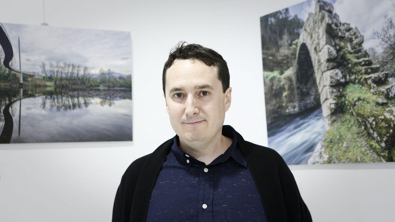 Marcos Luengo, a la pasarela.El director de escena Emilio Sagi en el Hotel Reconquista de Oviedo