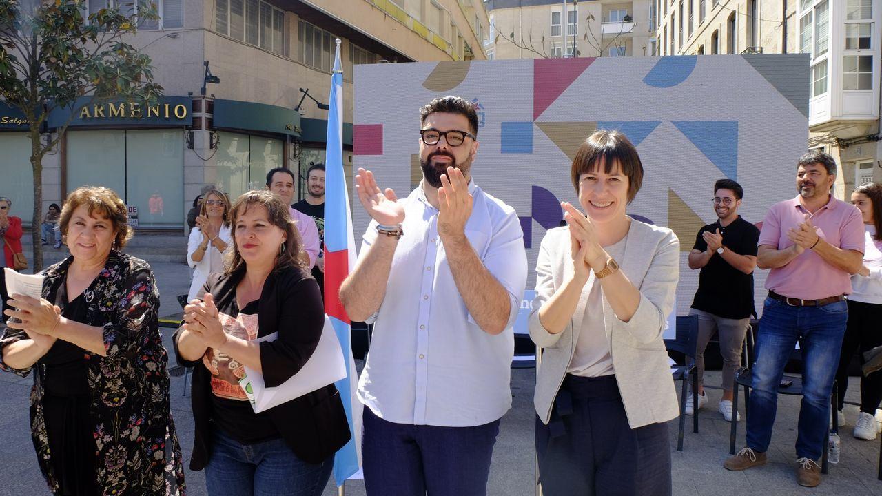 Pontón, cuando presentó la candidatura de Ana Miranda