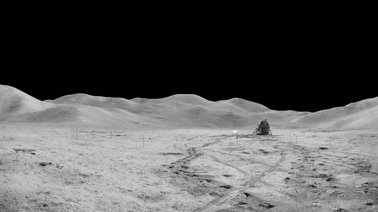 Imagen tomada durante la misión del Apolo 15, en 1971