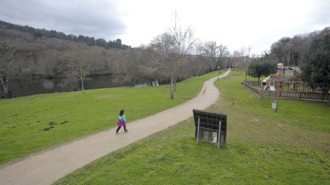 Zona del Paeeo del Miño donde el Concello proyectó la playa fluvial de Lugo