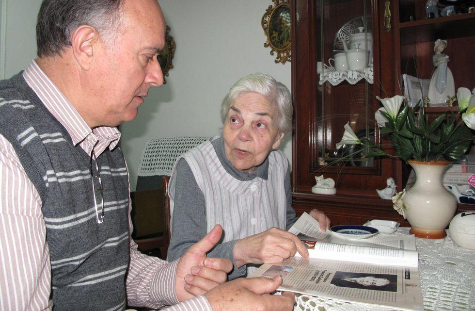 Nuno Silva y la camiseta de Franco.El autor murió en 1931.