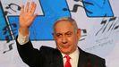 Benajmin Netanyahu, tras conocer los resultados en la noche electoral