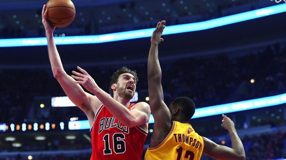 El español Pau Gasol, de los Bulls, en el partido que disputó a los Cavaliers de Cleveland