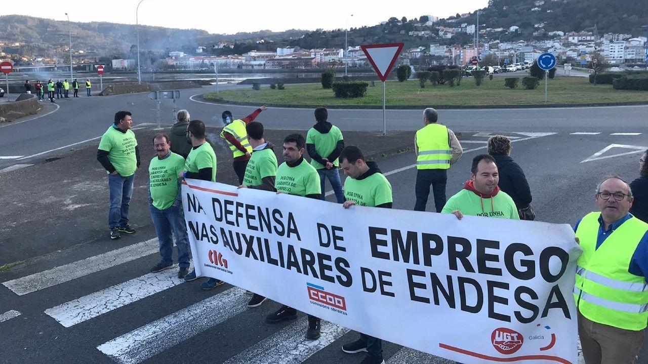 Protesta de los trabajadores de ALCE Calidad