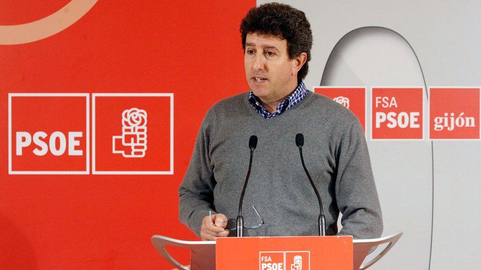 José Manuel Zapico, secretario general de Comisiones Obreras del Nalón.El secretario de Organización de la FSA Jesús Gutiérrez