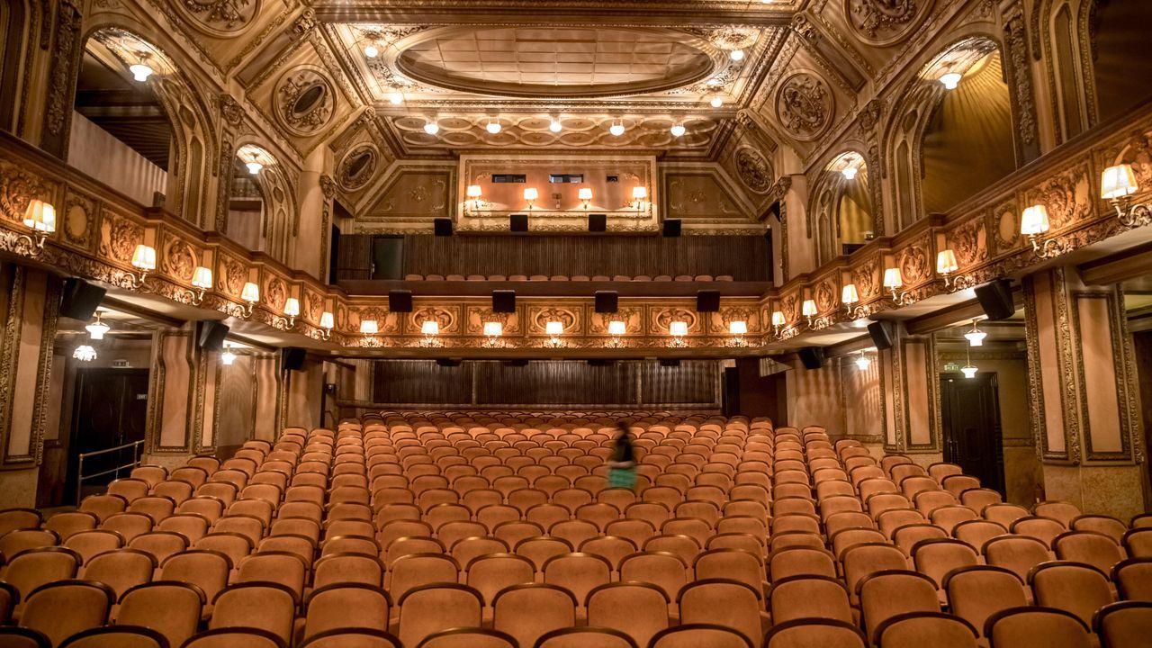 Cine en Praga donde se iba a celebrar el Festival de Cine por los Derechos Humanos «One World 2020», pospuesto por el coronavirus.