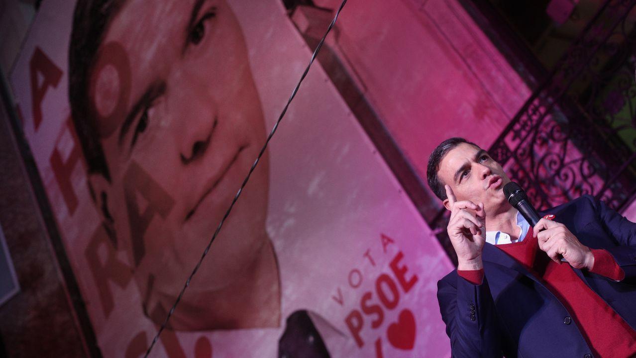 El líder del PSOE Pedro Sánchez, en la sede socialista de Ferraz
