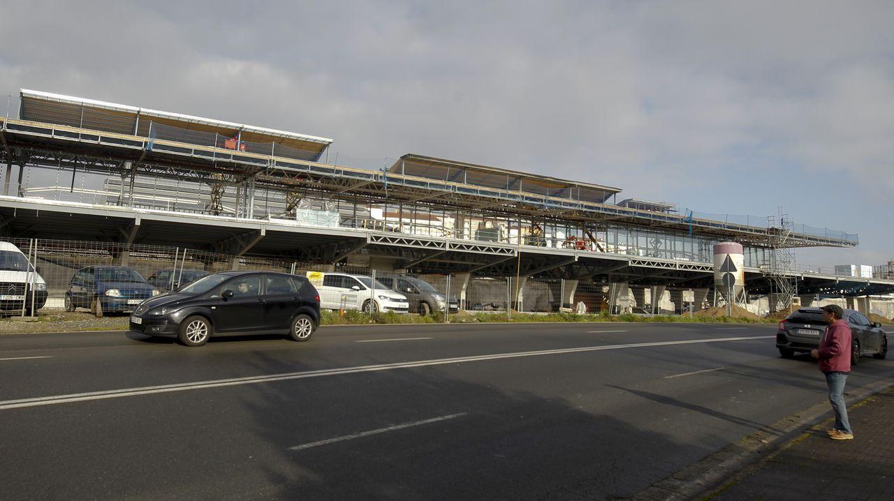 Las obras de la nueva estación de autobuses de Santiago están muy avanzadas