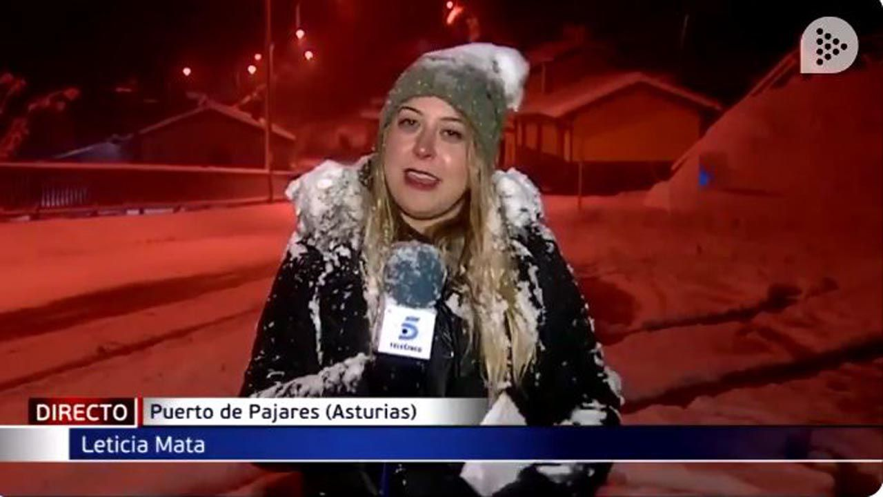 La reportera Alicia Mata en Pajares