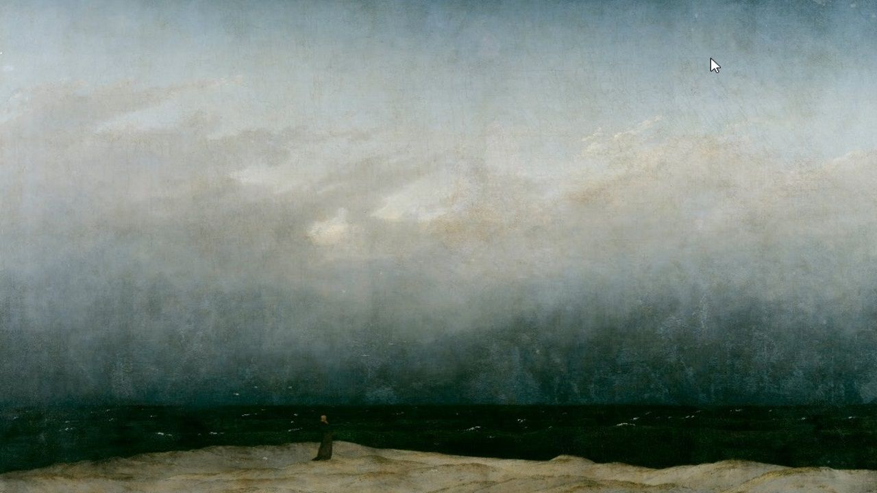 Friedrich: Monk by the sea original