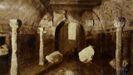 Foto anrigua del interior de Santa Eulalia de Bóveda