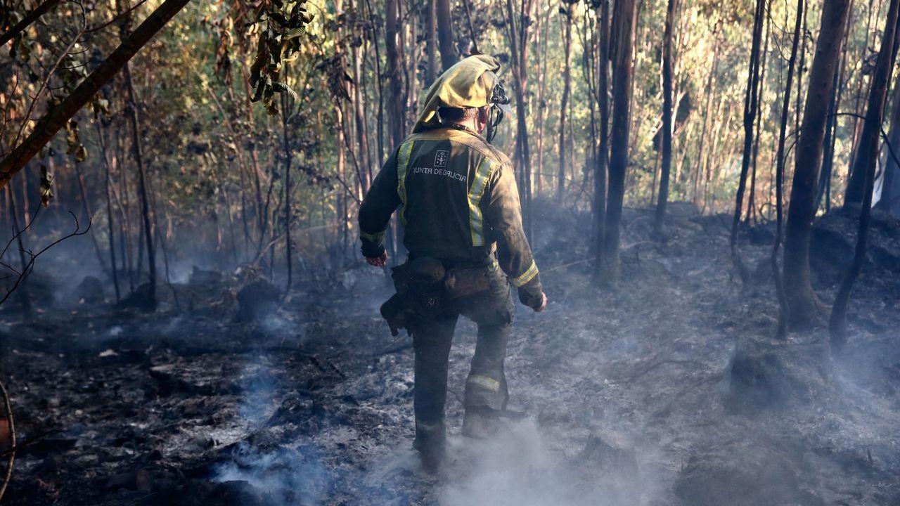Simulacro de incendio en el Cabo Noval.Juan Luis Poladura