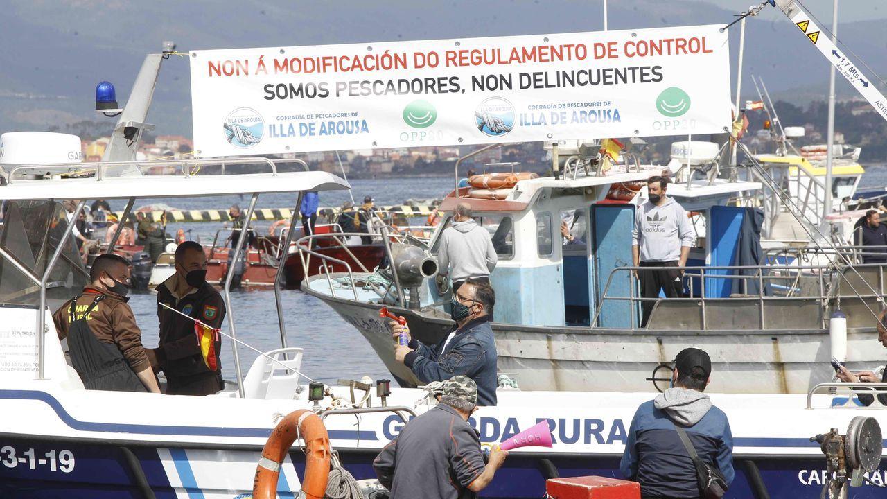 Concentración puerto de A Illa.Movilización de los trabajadores de Vulcano a principios de mes