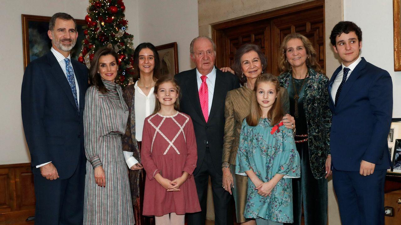 Foto oficial distrubuida por la Casa Real con motivo del 80 cumpleaños del Rey Juan Carlos el 5 de enero de 2018