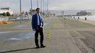 El presidente de la Autoridad Portuaria, Martín Fernández Prado, en el muelle de Trasatlánticos
