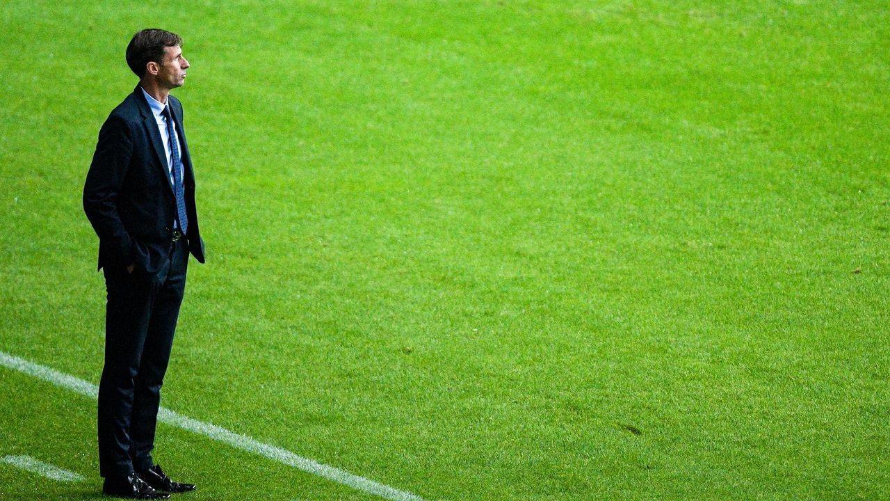 Nahuel Leiva Real Oviedo Rayo Vallecano Carlos Tartiere.José Ángel Ziganda, técnico del Real Oviedo