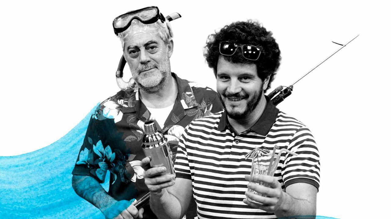 Compostela reúne a los mayores talentos innovadores.De izquierda a derecha, Pedro López Ferrer, Félix Baragaño, Álvaro Alonso y Hugo Fontela, ayer, en la presentación de la 63 Feria Internacional de Muestras de Asturias