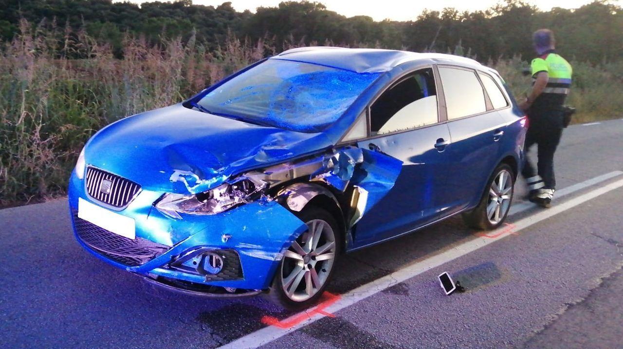 El turismo implicado en el accidente de la localidad barcelonesa de Sant Pere de Vilamajor