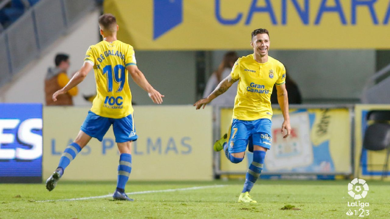 Gol Ruben Castro Las Palmas Granada Gran Canaria.Rubén Castro celebra un gol frente al Granada en el Gran Canaria
