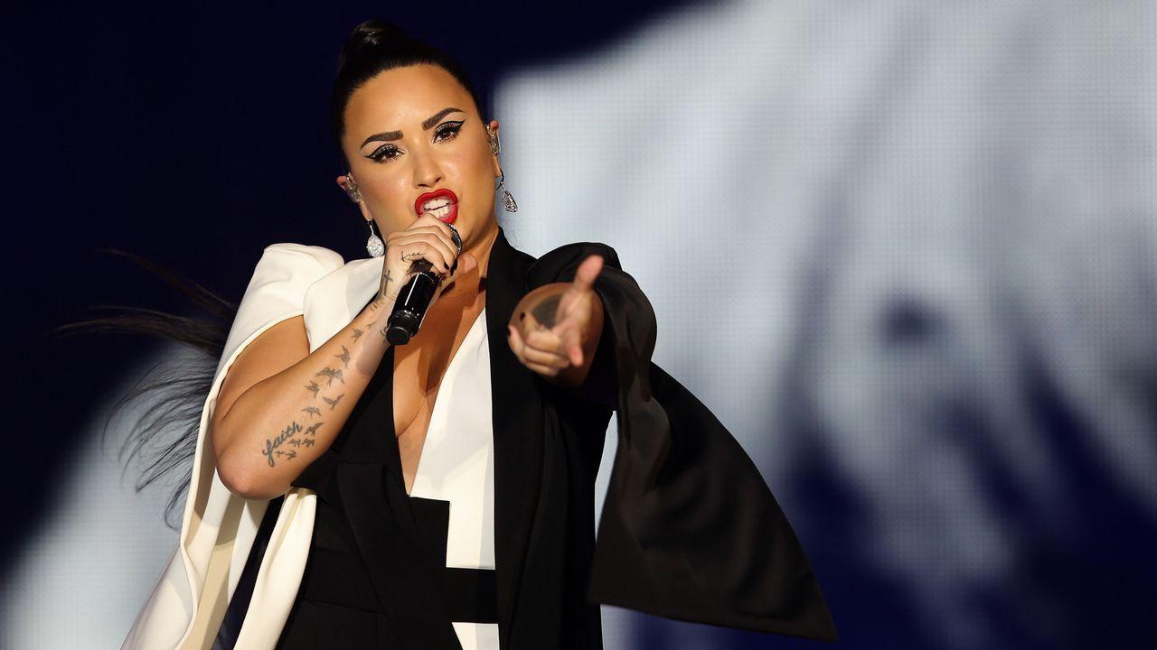 La cantante americana Demi Lovato en la segunda jornad del Rock in Rio Lisboa 2018