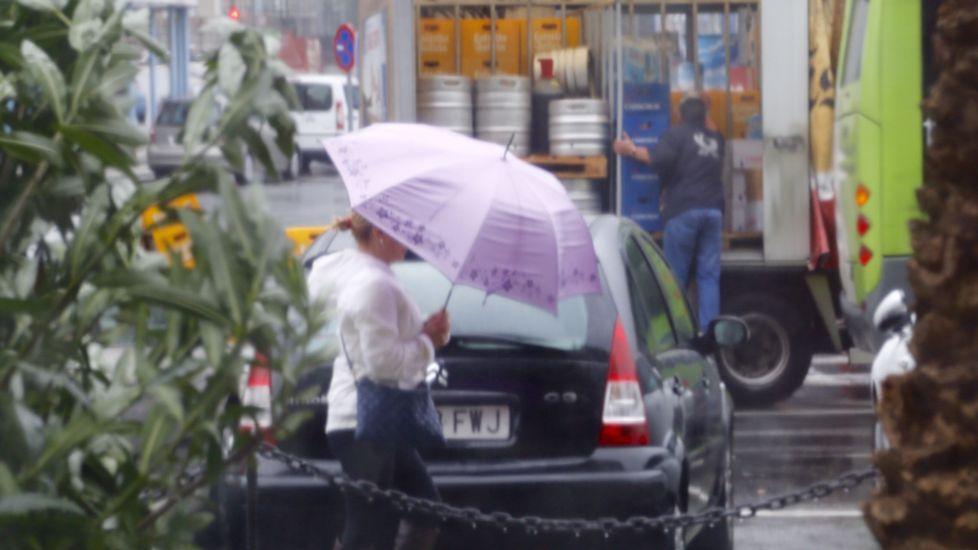 Lluvia esta mañana en la ciudad olívica