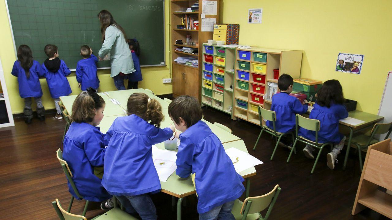 Alumnos utilizando los portátil del programa E-Dixgal