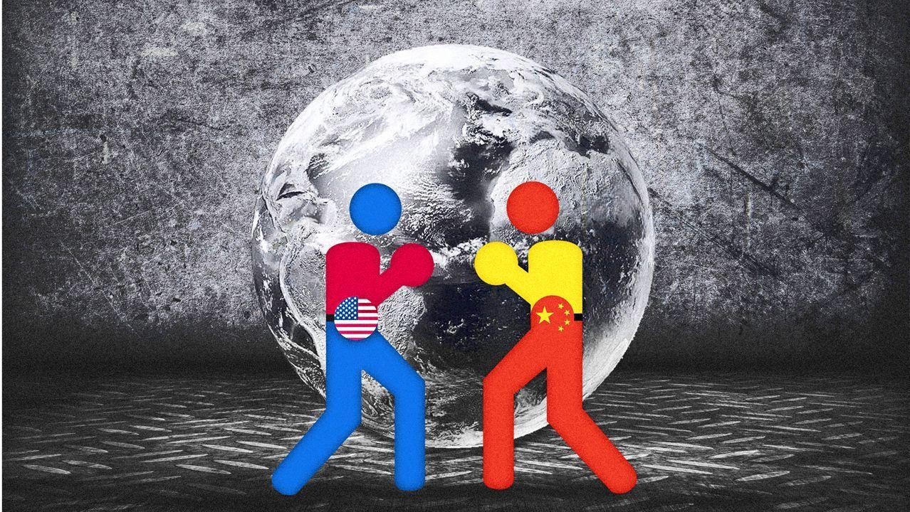 Imágenes de la pandemia en el mundo.Donald Trump, al pie del monte Rushmore, durante la fiesta del Día de la Independencia