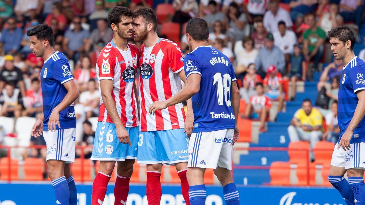 Juan Antonio Anquela en la rueda de prensa posterior al partido contra el Extremadura UD