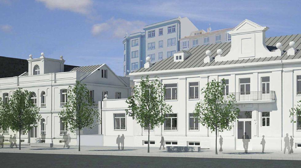 Recreación del proyecto para rehabilitar el antiguo edificio de la Comandancia Naval, incluido dentro del plan del Puerto para revalorizar la fachada marítima de Ferrol