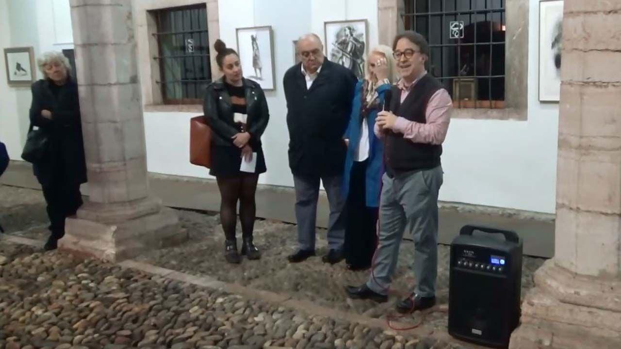 Inauguración de la exposición en Grado