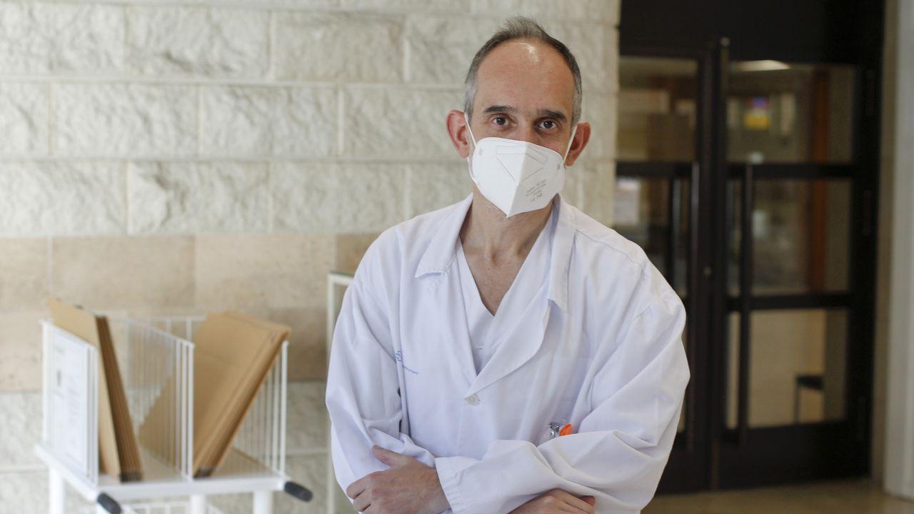 La nueva cocina del CHUF.El dermatólogo Benigno Monteagudo, oriundo de Ortigueira, ha visto ya muchas secuelas por el covid