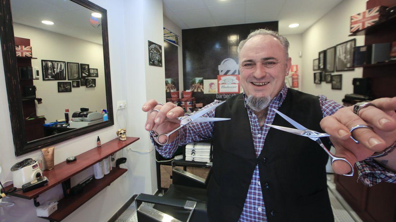 Roberto Rubio inaugura el lunes Paradela Barber Shop, en la calle Montirón