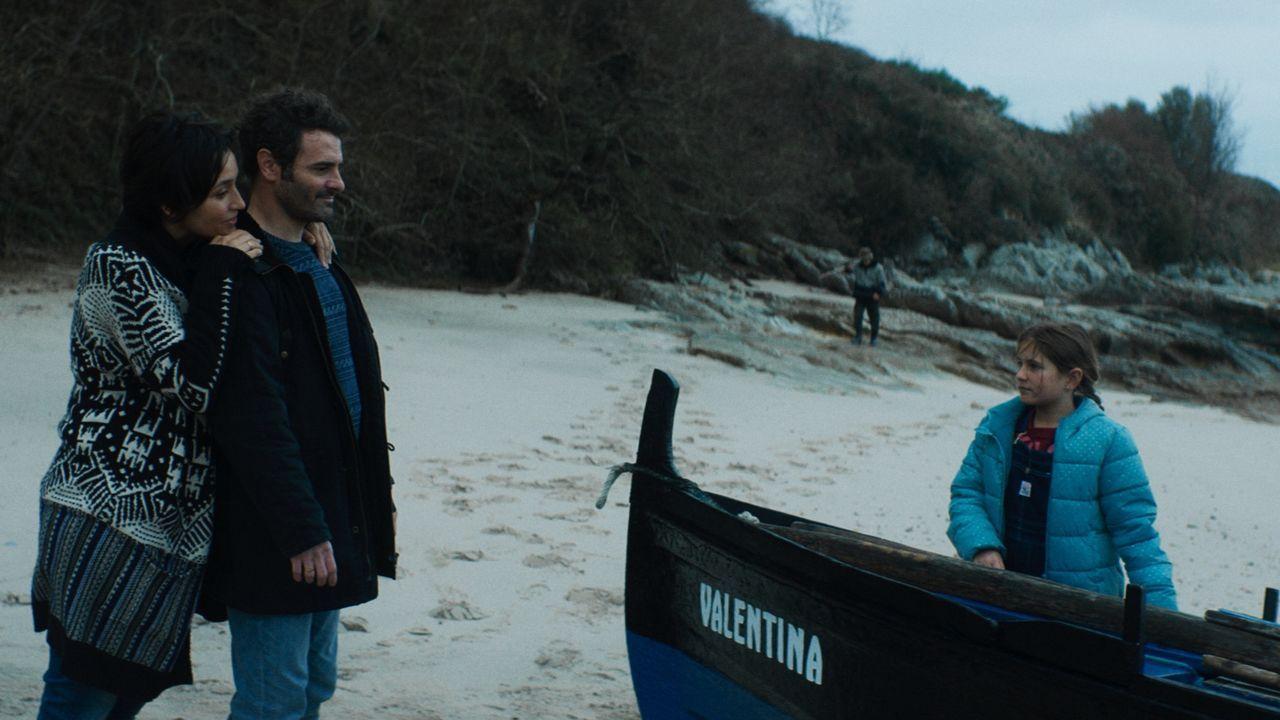 Fernando Tato e Maria Roja, durante a gravacion na Casa Piñeiro en Monfero