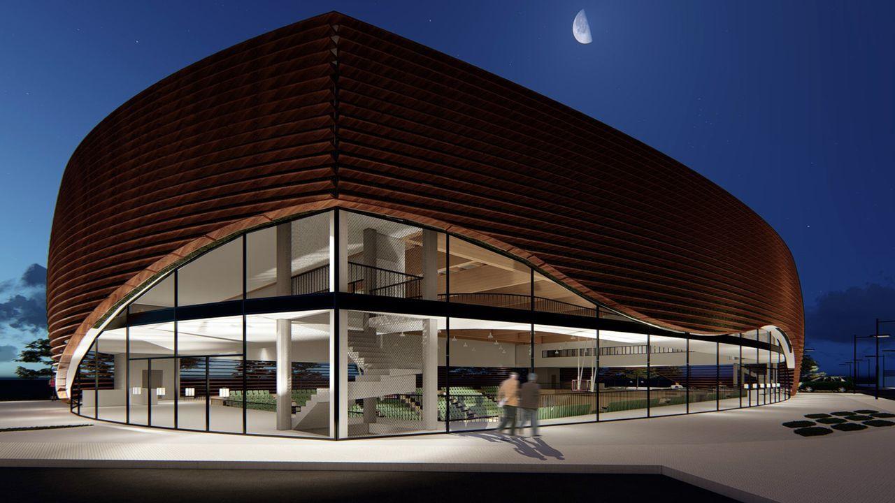 Así será el nuevo pabellón polideportivo de Lugo.La alcaldesa de Lugo, Lara Méndez, dio positivo por covid