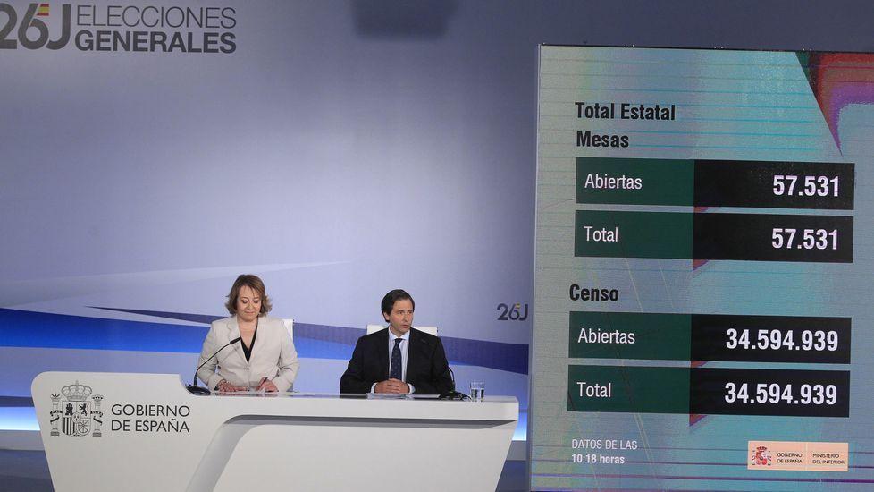 Primera rueda de prensa, a las 10.30, para informar de la apertura de mesas electorales