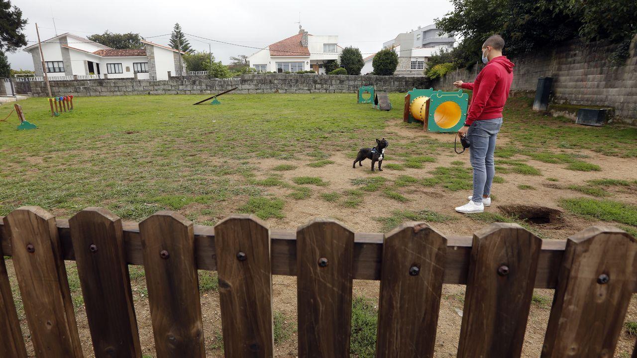 Las mariscadoras de Carril limpian de algas la playa de A Compostela