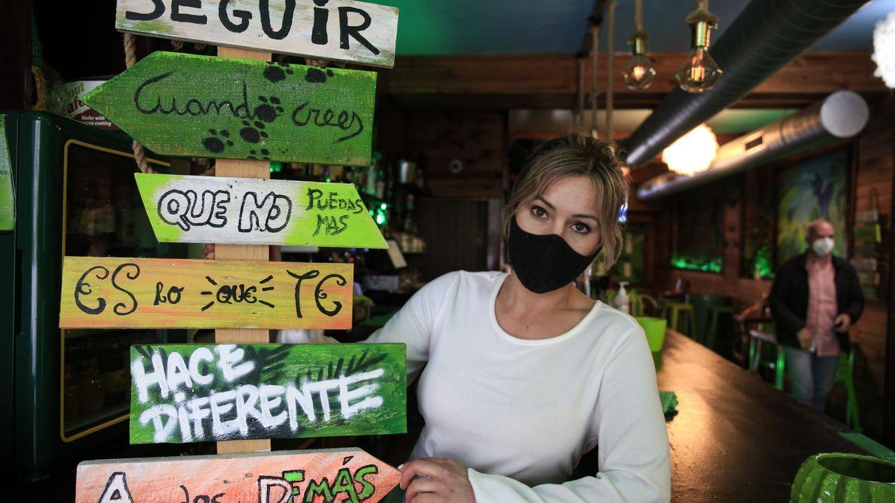 Yolanda Nieto, responsable del bar Tiki Tiki de Guitiriz