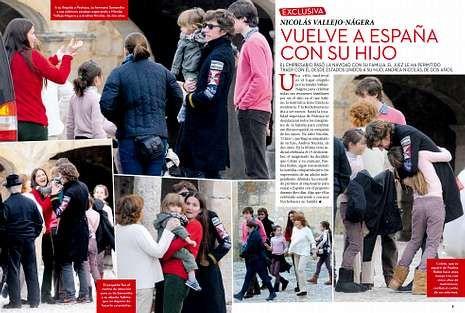 <span lang= es-es >Un viaje muy esperado</span>. La llegada de Andrea Nicolás a Pedraza fue muy celebrada por toda la familia. A la derecha, portada de la revista.